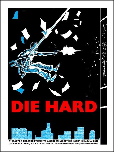 Die Hard movie poster by Tim Doyle - Alamo Drafthouse - Gallery                                                                                                                                                                                 More