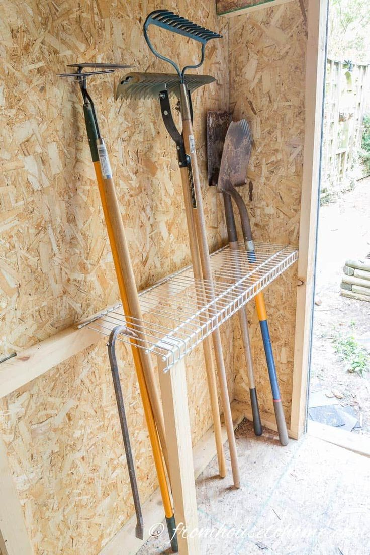 Shed Organization: 8 Easy and Inexpensive DIY Garden Tool Storage Ideas – Gardening Ideas
