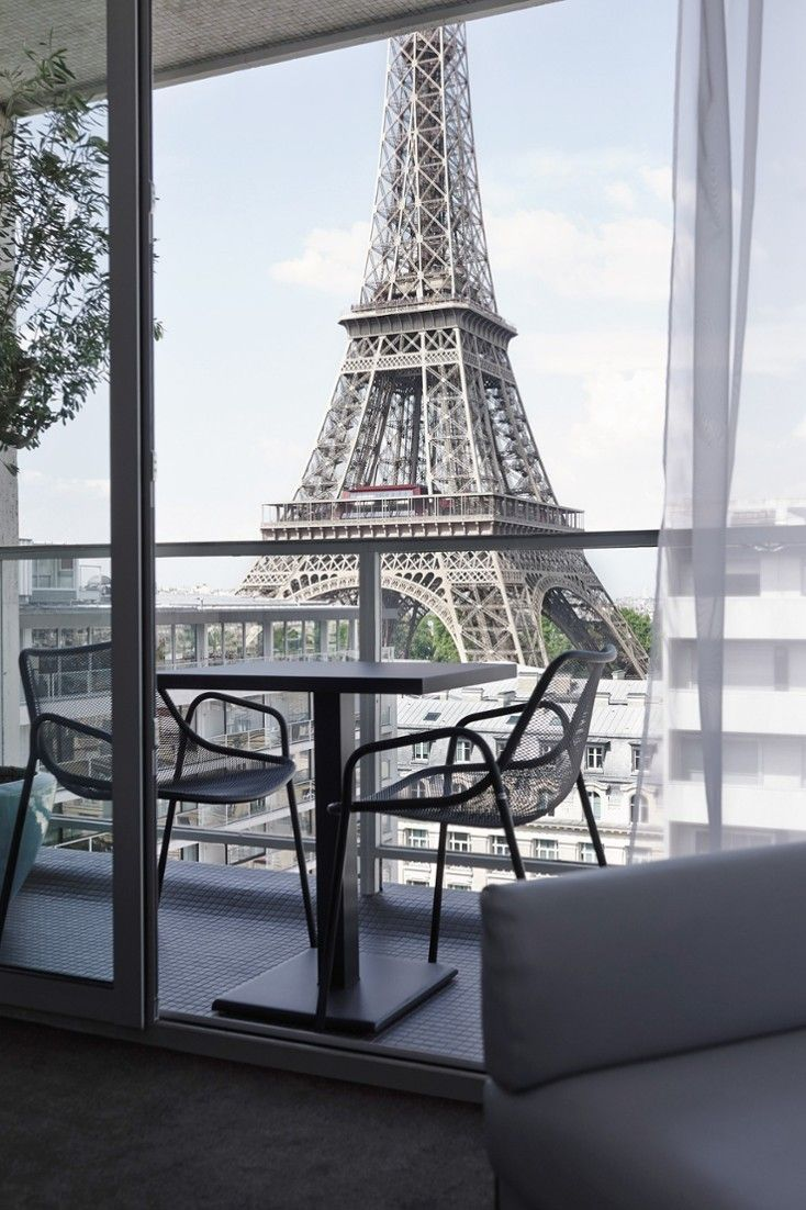 Can you get a better balcony view in Paris? We don't think so. Within spitting distance of the Trocadero and the Champs de Mars, the Pullman Eiffel Tower is located right near Paris's most famous landmark. The property was revamped by Christophe Pillet in 2014, and the look is contemporary urban with plenty of slate-gray fixtures and fittings livened up with bright primary colors. #Jetsetter