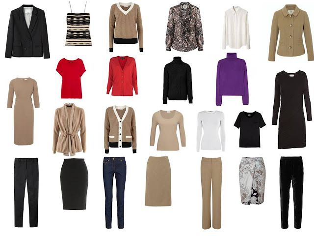 Was Chanel right? -- all you need are 2 really good suits (that is, jacket, skirt, pants and dress, shown here in black and beige)...here's how to put it together! great for building an office wardrobe @Melanie Cols