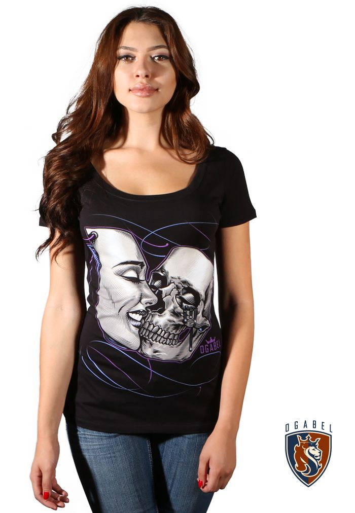 "OG Abel ""Kiss Mask"" Scoop Neck Womens Tee"