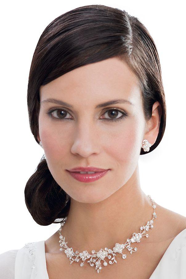 Brautschmuck: Kette mit Ohrringen von Emmerling