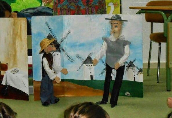 Marionetas Don Quijote y Sancho Panza
