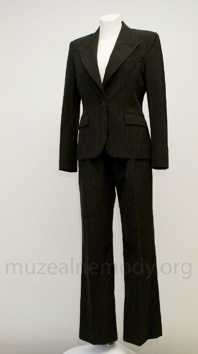 YSL Rive Gauche pantsuit, early 1990s.