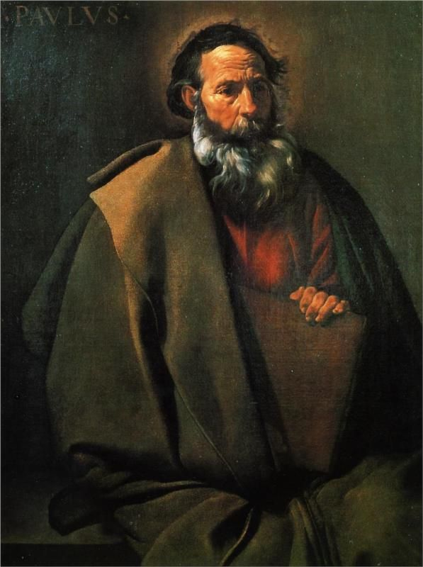 Diego Velázquez (Spanish 1559–1660) [Baroque, Portrait] St. Paul, 1619-1620. Museo del Prado, Madrid.