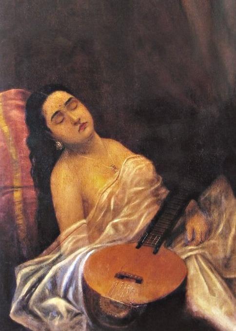Painting Canvas Raja Ravi Varma
