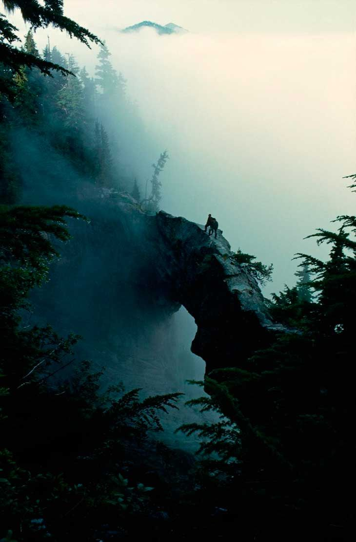 puente se sitúa en el monte Rainier, con sus 4.392 metros de altura. En 1899 fue el quinto parque nacional que se creó en los Estados Unidos, y hoy tiene casi dos millones de visitantes al año enamorados de su belleza salvaje. 150 kilómetros de naturaleza salvaje con un toque glaciar que sus usuarios tardan en completar unos 14 días, casi como un Camino de Santiago a la americana.