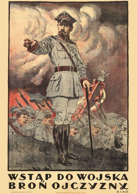 Wojna Polsko Bolszewicka 1920 W Malarstwie Plakat