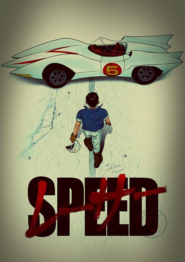 Speed Racer Akira Themed Poster