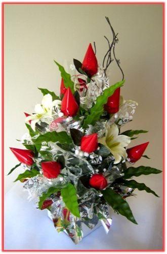 """RED ROSEBUDS"" Candy Bouquet  Designed by Jana Kramar"