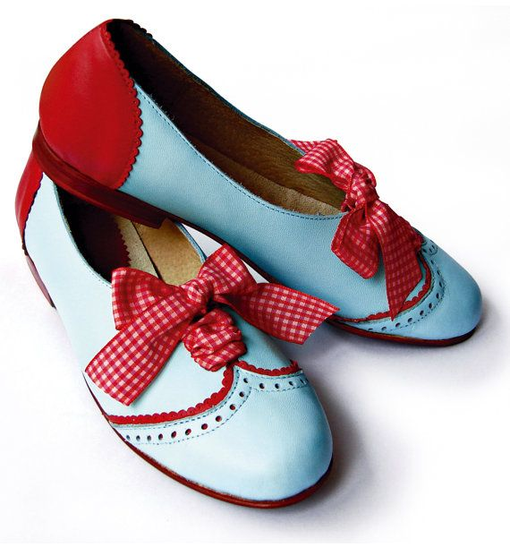 ON SALE **** Leather ballet flats light blue on Etsy, $135.00