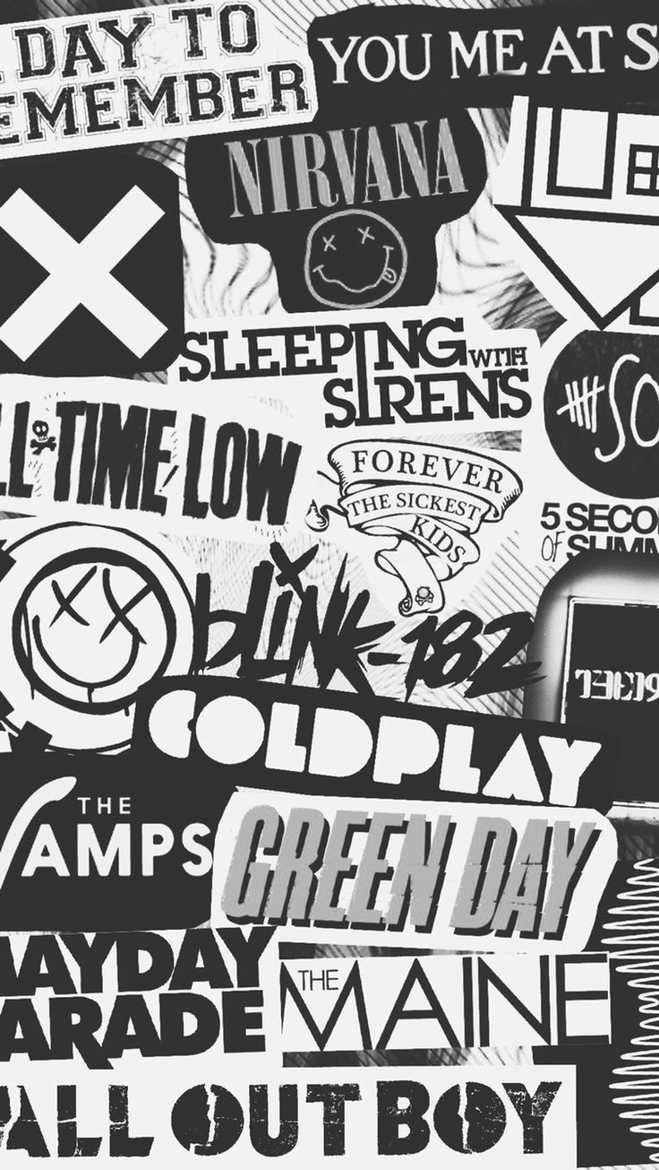 Black And White Iphone Wallpapers Group Find The Best Black Wallpapers Download All Background Images For Free Click Here Pop Punk Band Green Day