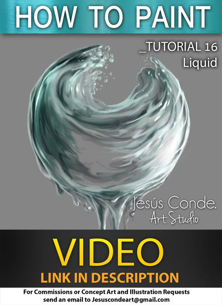 How To Paint Liquid by JesusAConde on deviantART