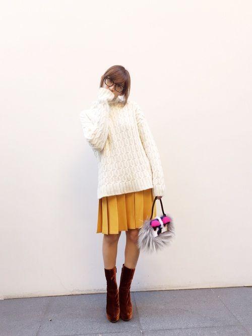 紗栄子 miu miuのニット・セーターを使ったコーディネート - WEAR