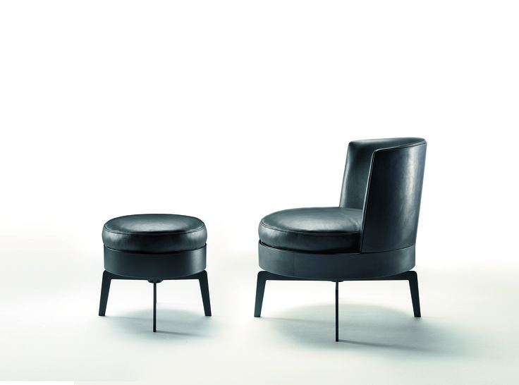 FLEXFORM FEEL GOOD armchair and ottoman #design Antonio Citterio