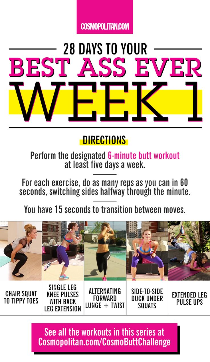 #COSMOBUTTCHALLENGE: Use this workout guide to get your best butt ever. Here you'll find the only butt workout you need to get a booty like Beyonce. Click through for the full workout, expert fitness tips, and the weekly info you need to complete this Cosmo challenge! Forget squats, you can get an Instagram-worthy butt with these moves: chair to squat tippy toes, single leg knee pulses with back leg extension, alternating forward lunge & twist, side-to-side duck-under squats, and extended…