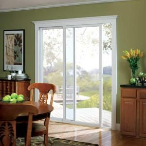 American Craftsman 50 Assem Patio Door, 6/0, 72 in. x 80 in., White Vinyl, Assembled, Left-Hand Sliding Patio Door, LowE3 Insulated Glass-50 PD ASSEM at The Home Depot