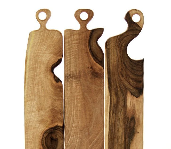 Wooden walnut /Rustic chic serving boards /Chopping /Cheese boards /Gift by PulverandHolz on Etsy