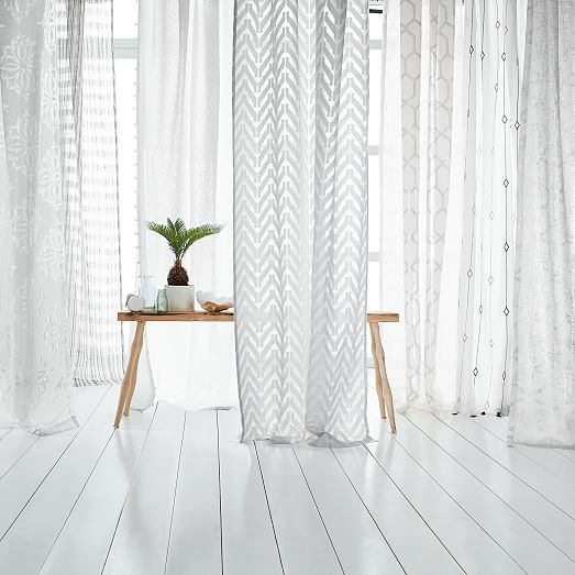 Metallic Lattice Curtain | west elm