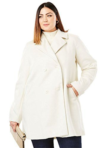 364fb26885e New Jessica London Women s Plus Size A-Line Peacoat. womens fashion  clothing   69.99