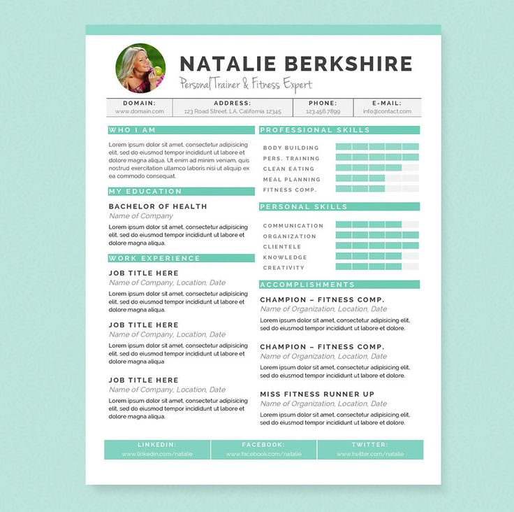 25 best CV Template images on Pinterest Resume design, Resume - microsoft trainer sample resume