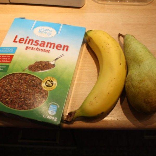 Banán hruška ľanové semienka
