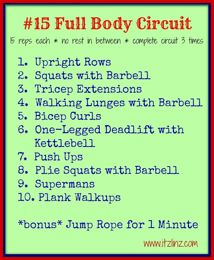 #15 Full Body Circuit via @B R O O K E // W I L L I A M S Williams Baird Itz Linz @B R O O K E // W I L L I A M S Williams Itz Linz