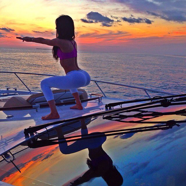 Squats on a yacht lol