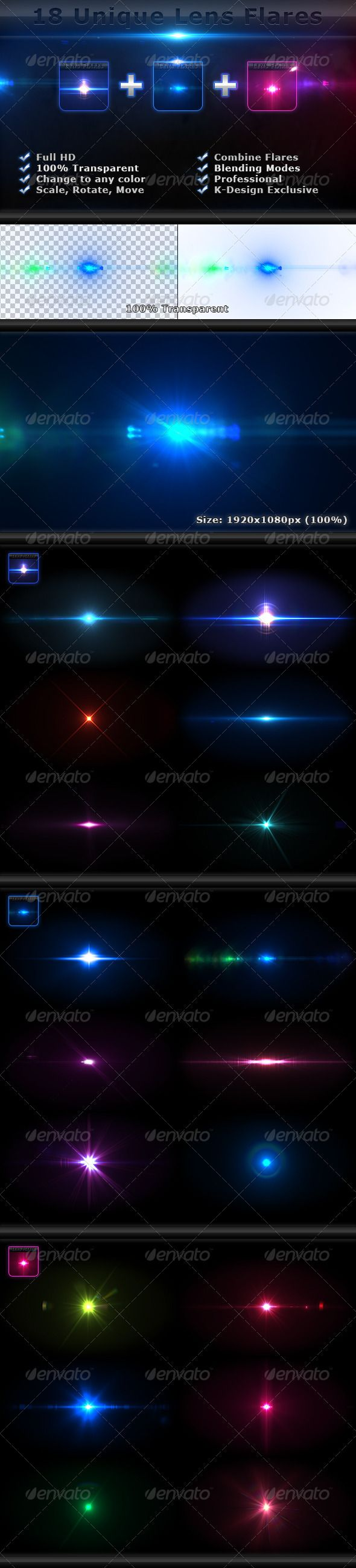 18 Unique Lens Flares - Light Effects Bundle 4-6 - #Decorative #Graphics Download here: https://graphicriver.net/item/18-unique-lens-flares-light-effects-bundle-46/2426515?ref=alena994