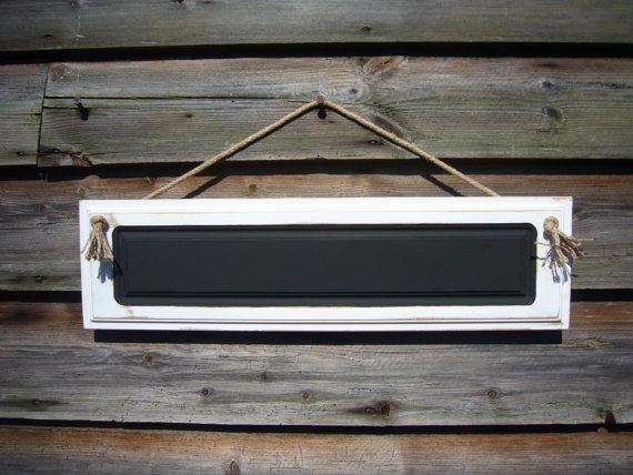 Chalkboard Sign - White Rustic Signs - Rustic Home Decor - Hanging Chalkboard - Small Chalkboards - White Wedding Decor - Welcome Sign