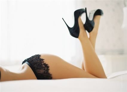 You WON'T have a bad wedding night in these boudoir pumps...