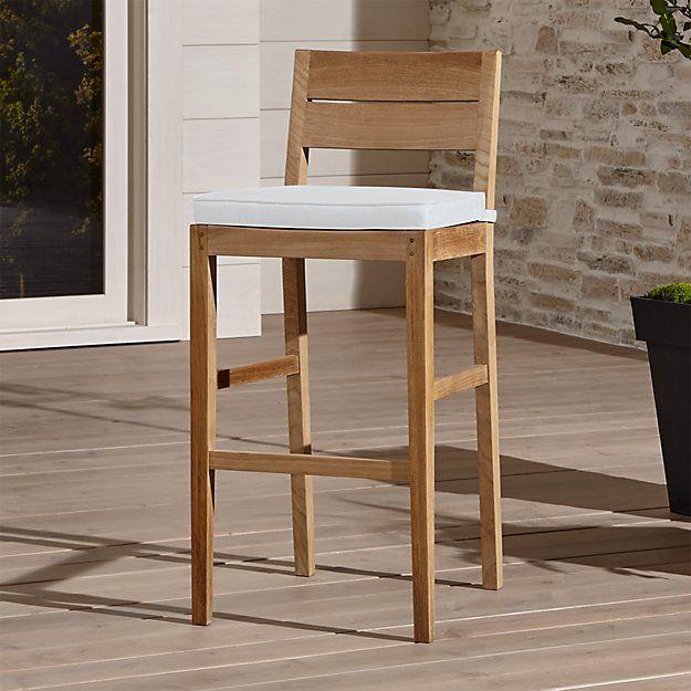 teak stools with backs