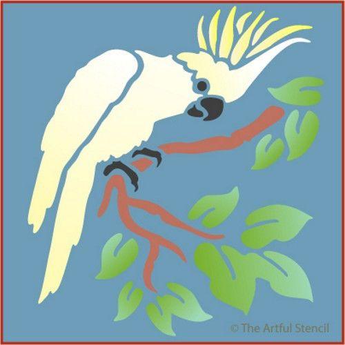 Какаду трафарет-тропических птиц - The Artful трафарет