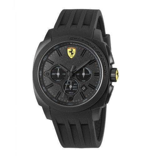 Scuderia Ferrari Aerodinamico Chronograph Watch Black NEW #ferrari #ferraristore #scuderiaferrari #watch #collection #new #aerodinamico #exclusive #style #prancinghorse #cavallinorampante #passion #carbon #alarm #data #timezone #waterproof #cronograph #alarm #black