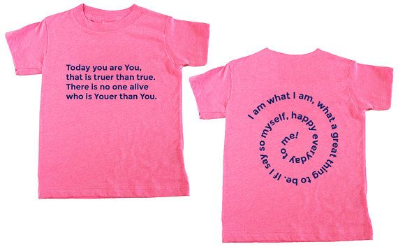 Dr Seuss Birthday Party T-shirt I am what I am Girls Dr