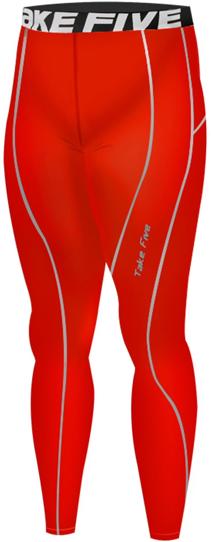 New 053 Winter Warm Skin Tights Compression Base Layer Red Running Pants S-2xl (S). Men's long Pants compression Tights made using Take Five technology. UVA/UVB Protection - Take Five compressoin protects your skin from UVA/UVB radiation during your outdoor workout. Great for skiing, snowboarding, training, competing, and all weather sports and activities. Machine washable.
