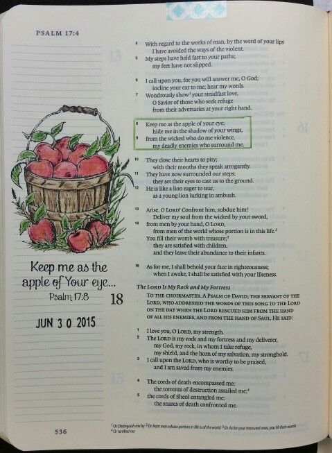Psalm 17:8 by Paula-Kay Bourland. Stamp by Our Daily Bread Designs.