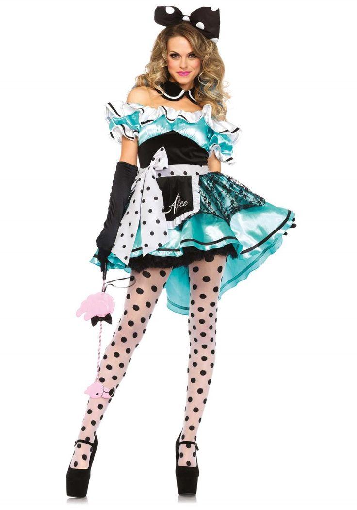 """""""Alice"""" női jelmez rendkívül divatos hátrafelé hosszabodó szoknya résszel."""