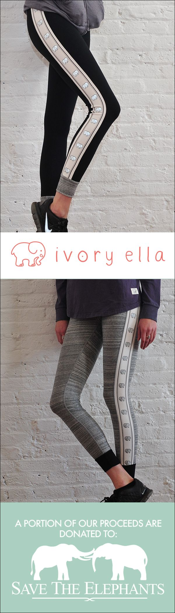 Check out our latest leggings! Every purchase supports Save the Elephants.