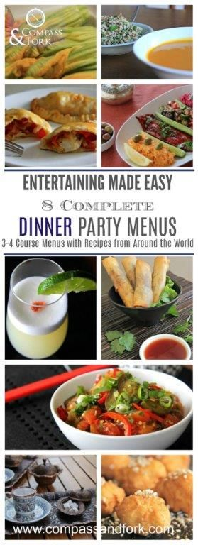 Entertaining Made Easy with 8 Complete Dinner Party Menus