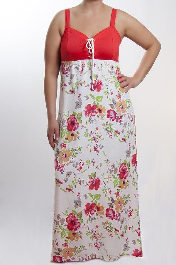 Vivien ruha - krém virágos