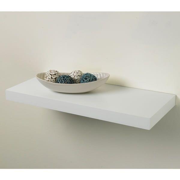 Pratica Tendenza Floating Shelf Kit White 25cm x 60cm