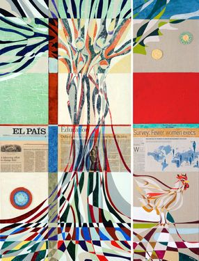 """Saatchi Art Artist Graziella Coi; Painting, """"EL PAIS. Where is the country for women?"""" #art"""
