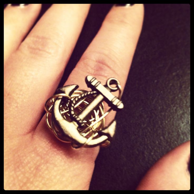 Knotted Brass Anchor Ring