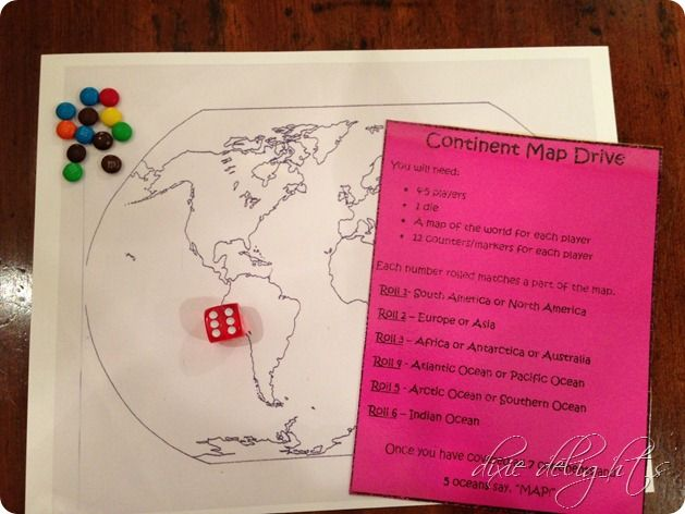 M S Around The World Continent Map Game