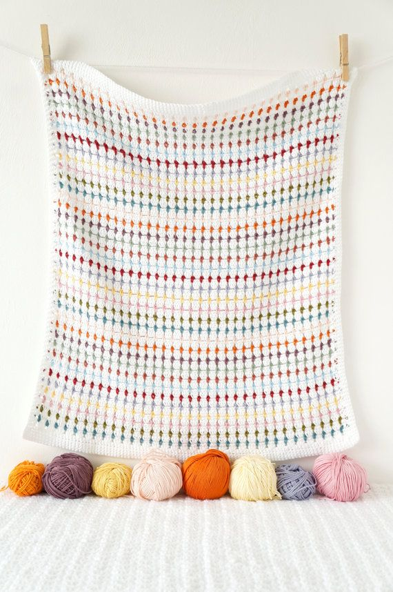 Baby Blanket Crochet Pattern Annie PDF Instant by LittleDoolally