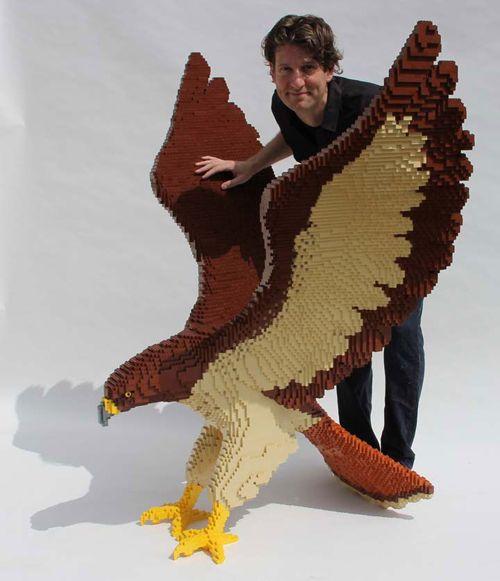 "Nathan Sawaya #LEGO #Art ""The Hawk"""