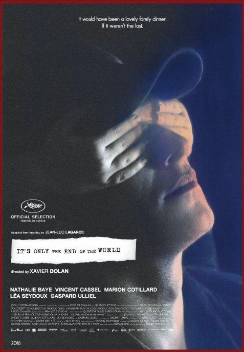 Juste la fin du monde, Xavier Dolan. On peut être agacé par les films de Dolan, un certain manièrisme, une utilisation peut-être un peu exagérée des effets (ralentis, musique, ...) mais c'est un formidable directeur d'acteur. Gaspard Ulliel, Lea Seydoux, Marion Cotillard, Vincent Cassel, casting chic, certes, mais absolument pas toc. Tous sont formidables.