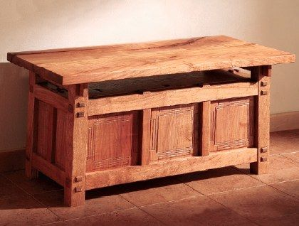 This charming bench will be a well loved gift. Not only is it handy and well constructed (assuming you follow the plans and don't replace hardware with chewing gum) It will make a great heirloom gift!