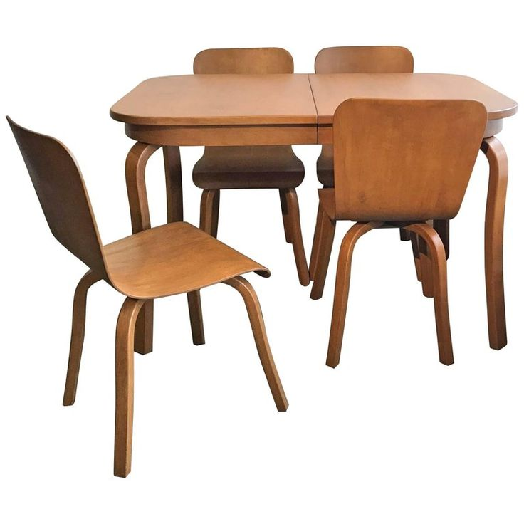 Bentwood Dining Set by Waclaw Czerwinski and Hilary Sylolt For Sale